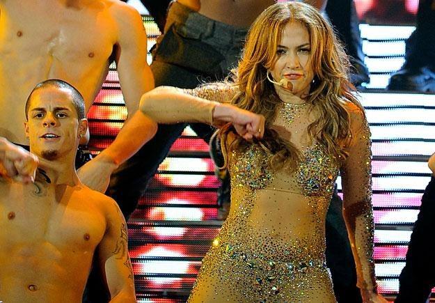 Casper Smart (z lewej) jest jednym z tancerzy Jennifer Lopez fot. Kevork Djansezian /Getty Images/Flash Press Media
