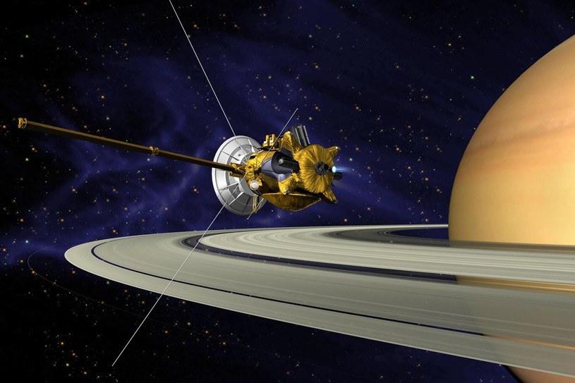 Cassini spłonie w górnych warstwach atmosfery Saturna 15 września 2017 roku /materiały prasowe