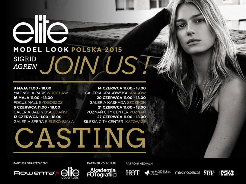 Castingi do polskiej edycji konkursu Elite Model Look przeprowadzone zostaną w 8 miastach /materiały prasowe