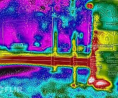 CAT S60 film nagrany kamerą termowizyjną
