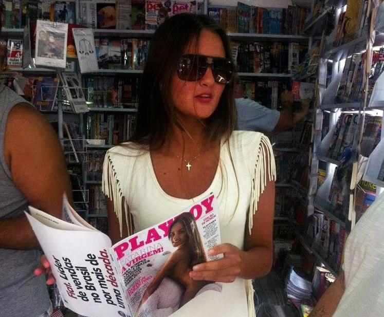 """Caterina była gwiazdą brazylijskiej i argentyńskiej edycji Playboya. W obu wydaniach """"zaliczyła"""" okładki /East News"""