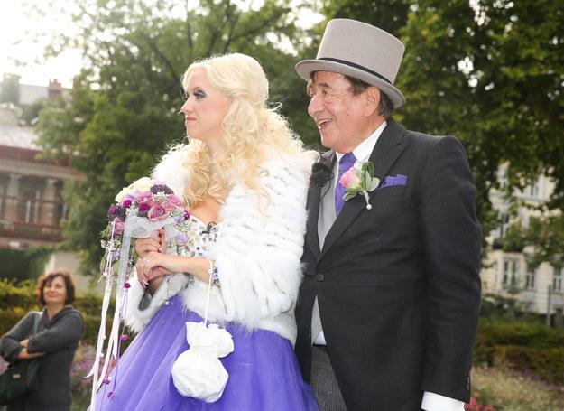 Cathy Schnitz i Richard Lugner - tę dwójkę dzieli 57 lat /Getty Images