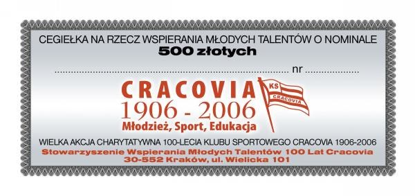 Cegiełka na rzecz wspierania młodych talentów /