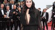 Celebrytka pozowała w całkowicie prześwitującej sukience w Cannes!