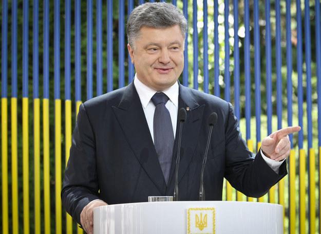 """Celem nowelizacji jest """"zbliżenie władzy do zwykłego człowieka"""" / Na zdjęciu prezydent Ukrainy Petro Poroszenko /East News"""
