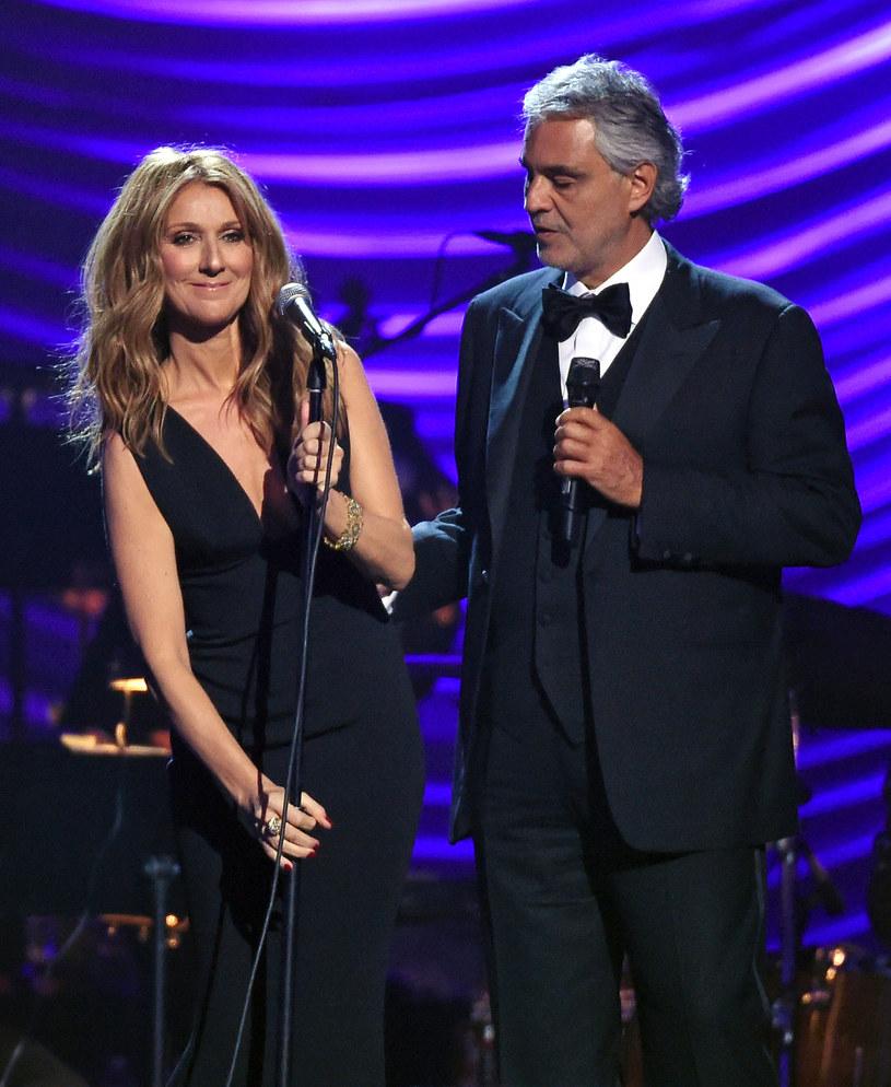 Celine Dion i Andrea Bocelli /Ethan Miller /Getty Images