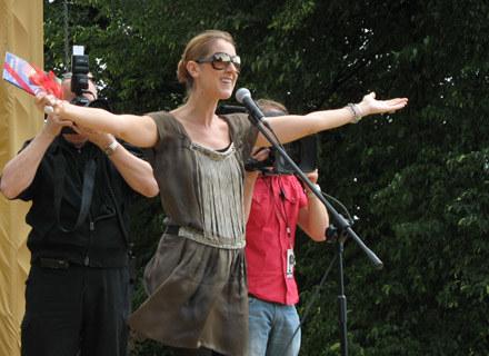 Celine Dion na nadwiślańskich bulwarach w Krakowie /INTERIA.PL
