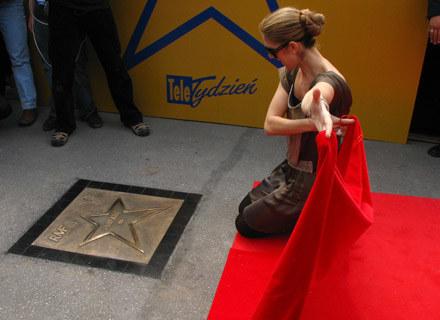 Celine Dion w momencie odsłaniania swojej gwiazdy /INTERIA.PL