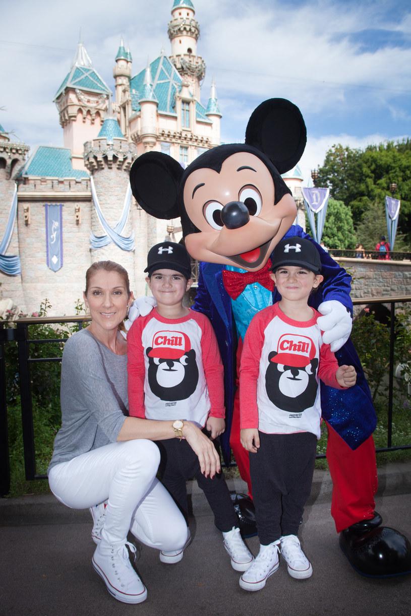 Celine Dion z synami /Handout /Getty Images