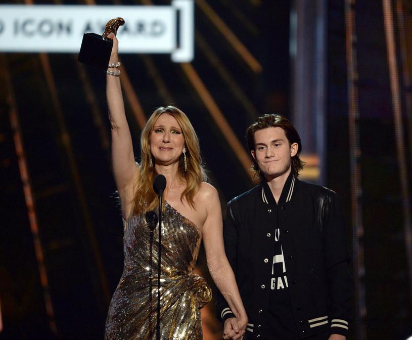 Celine Dion z synem Rene Charlesem Angelil /Kevin Winter /Getty Images