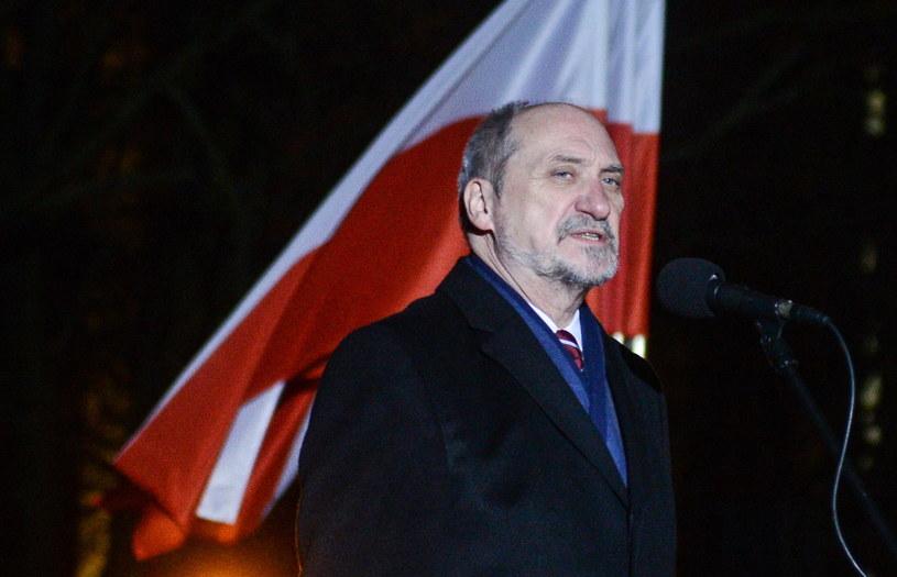Centralne obchody 154. rocznicy wybuchu powstania styczniowego - minister obrony narodowej Antoni Macierewicz podczas apelu pamięci /Jakub Kamiński   /PAP
