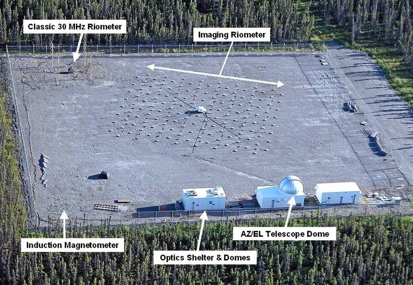 Centrum badawcze HAARP    Autor: HAARP www.haarp.alaska.edu/haarp /Internet