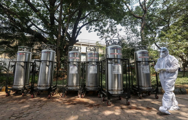 Centrum kwarantanny w Mumbaju /DIVYAKANT SOLANKI /PAP/EPA