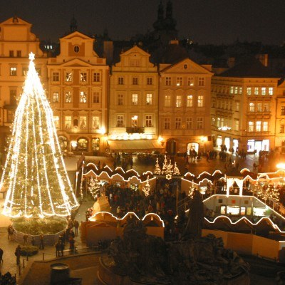 Centrum Pragi przed świętami /arch. AFP
