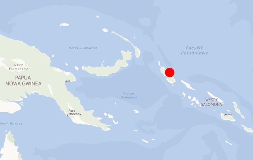 Centrum wstrząsów znajdowało się w odległości 100 kilometrów od miasta Panguna /INTERIA.PL