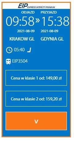 Ceny biletów na pociąg Kraków-Gdynia na miesiąc przed datą odjazdu /PKP Intercity /Archiwum