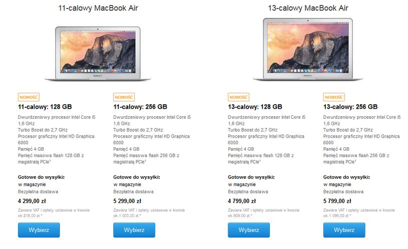 Ceny MacBooków Air w polskim Apple Store /materiały prasowe