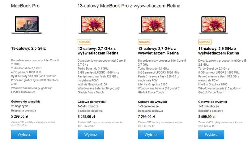 Ceny MacBooków Pro w polskim Apple Store /materiały prasowe