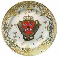 Ceramika: Talerz z herbem polskim i saskim, 1733 /Encyklopedia Internautica
