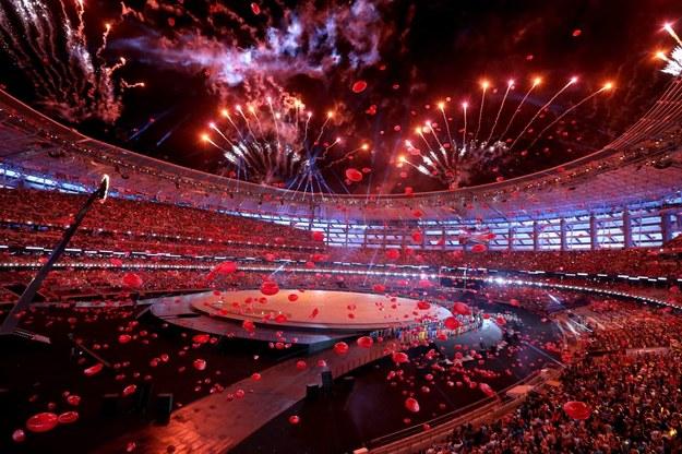 Ceremonia otwarcia igrzysk europejskich w Baku /PAP/EPA
