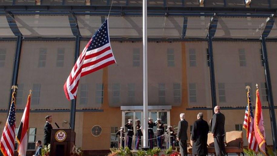 Ceremonia otwarcia nowego budynku ambasady USA w Bagdadzie w 2009 r. / Zdjęcie ilustracyjne / STR   /PAP/EPA