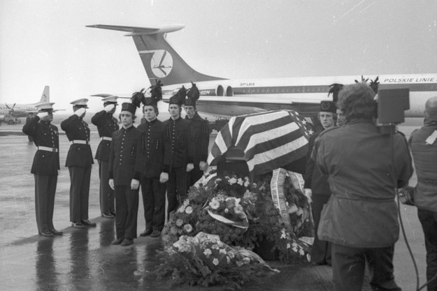 Ceremonia pożegnania tragicznie zmarłych sportowców amerykańskich /Grzegorz Rogiński (PAP) /PAP