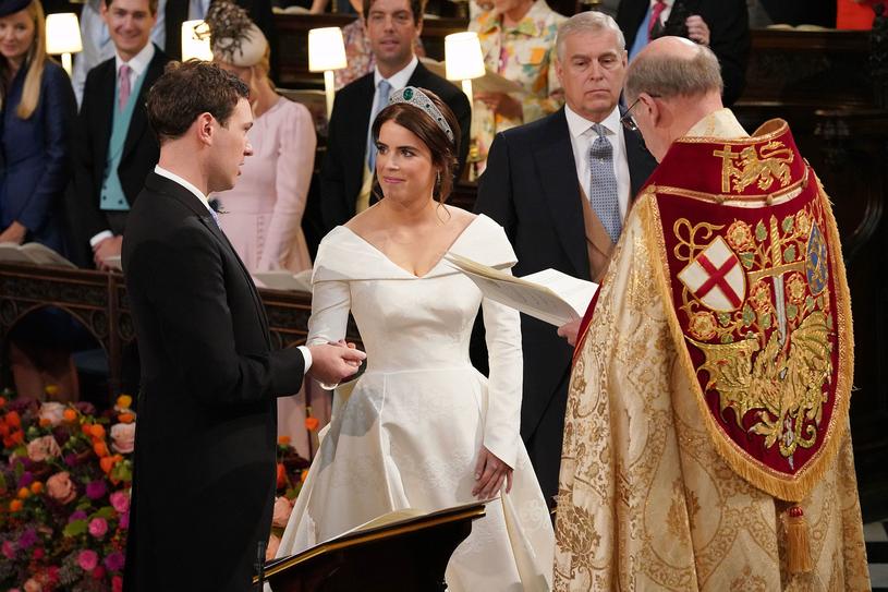 Ceremonia zaślubin księżniczki Eugenii  i Jacka Brooksbanka /AFP