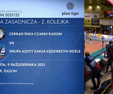 Cerrad Enea Czarni Radom - Grupa Azoty ZAKSA Kędzierzyn-Koźle 0:3 - SKRÓT. WIDEO (Polsat Sport)
