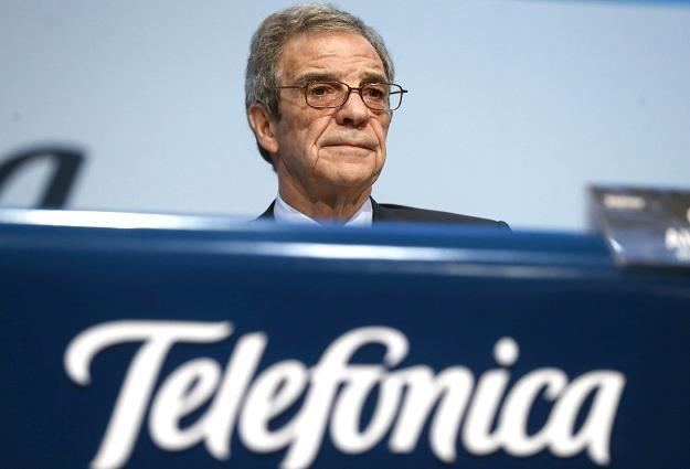 Cesar Alierta, prezes firmy Telefonica (teraz ider na niemieckim rynku sieci telefonii komórkowej) /EPA