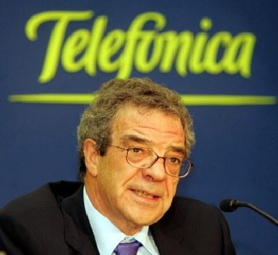 Cesar Alierta, prezes hiszpańskiej spółki Telefonica /AFP