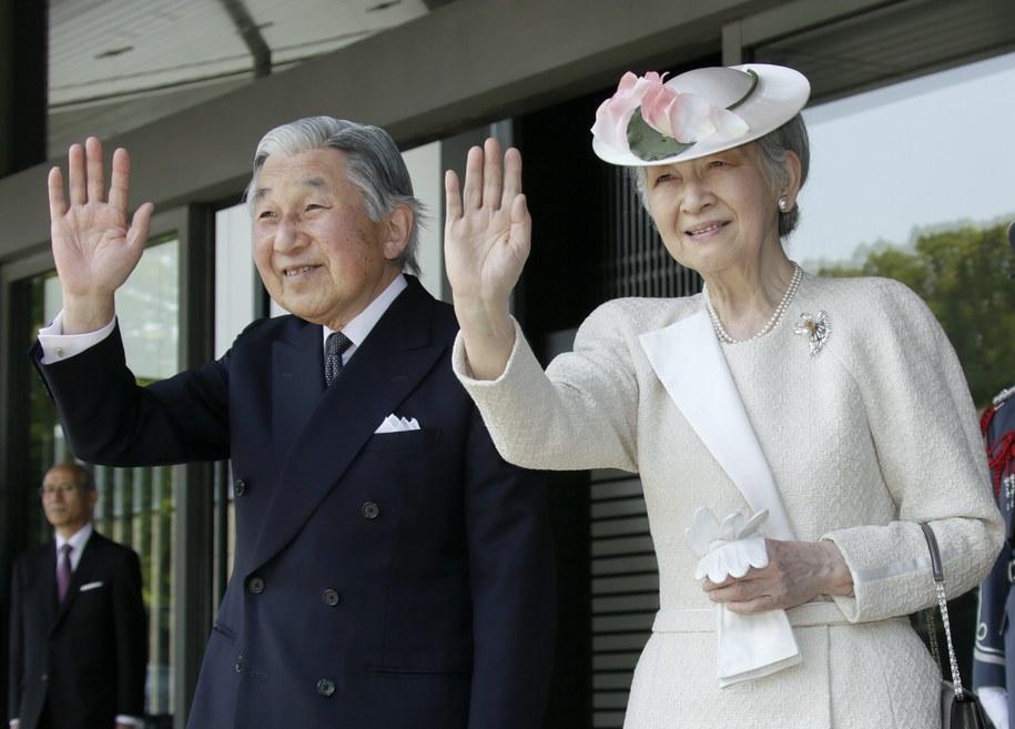 Cesarz Japonii z małżonką /KIMIMASA MAYAMA / POOL /PAP/EPA