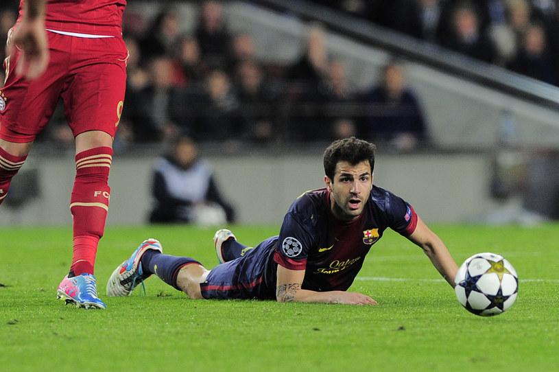 Cesc Fabregas i jego koledzy z Barcelony ponieśli klęskę w półfinale Ligi Mistrzów /AFP