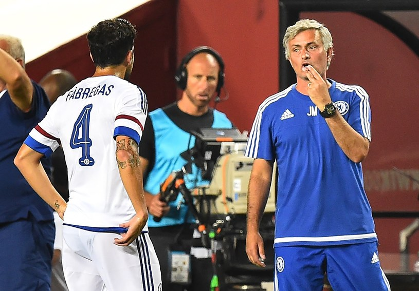 Cesc Fabregas i Jose Mourinho /AFP