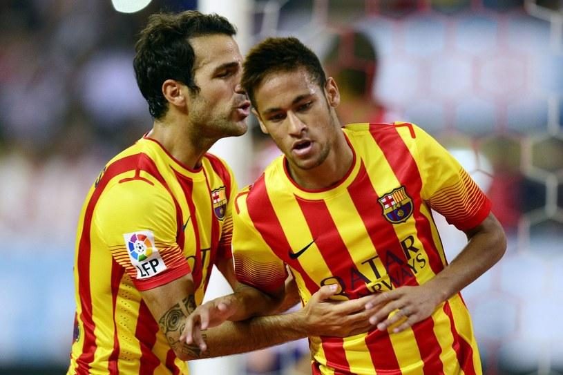Cesc Fabregas i Neymar /AFP