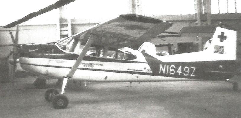 """Cessna """"Danuta"""" N1649Z, hangar Balice. /Alojzy Wiejak /Muzeum Ratownictwa w Krakowie"""