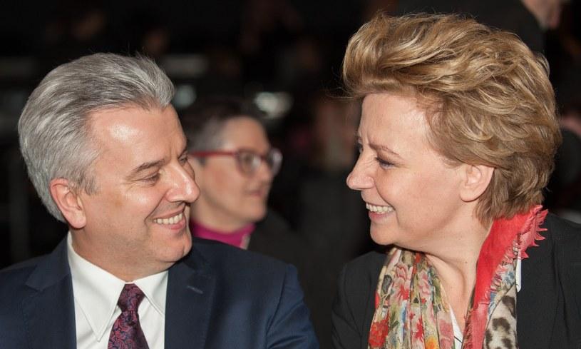 Cezary Grabarczyk i Hanna Zdanowska /ANDRZEJ ZBRANIECKI /East News
