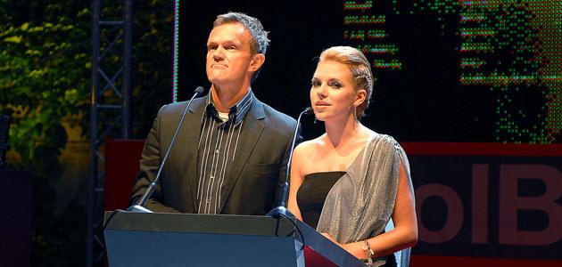 Cezary Pazura i Ola Kwaśniewska, fot. Andrzej Szilagyi  /MWMedia
