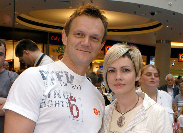 Cezary Pazura z byłą żoną, Weroniką /Zawada /AKPA