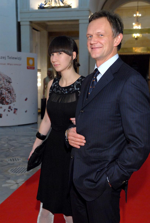Cezary Pazura z córką, 2008 rok /Andras Szilagyi /MWMedia