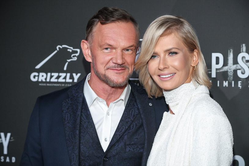 Cezary Pazura z żoną Edytą /Kamil Piklikiewicz/East News /Reporter