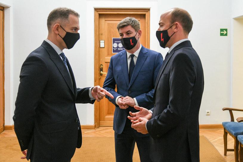 Cezary Tomczyk, Jan Grabiec i Borys Budka /Jacek Domiński /East News
