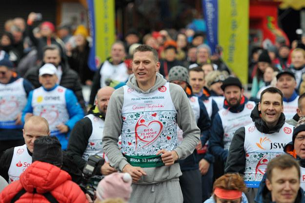 Cezary Trybański podczas 14. Biegu po Nowe Życie. Wisła 2019. /Materiały prasowe