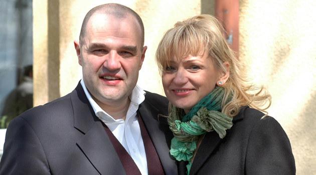 Cezary Żak z żoną  /MWMedia