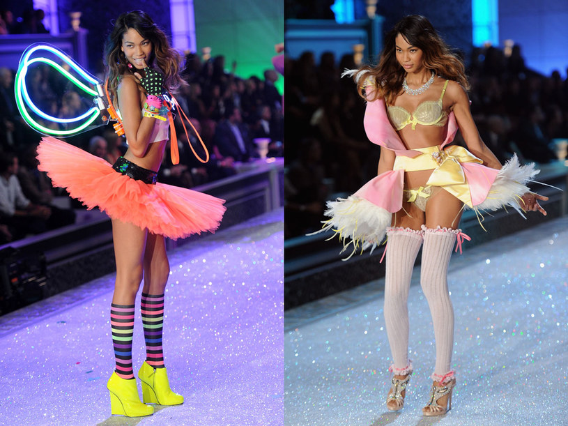 Chanel Iman podczas pokazu Victoria's Secret /Getty Images