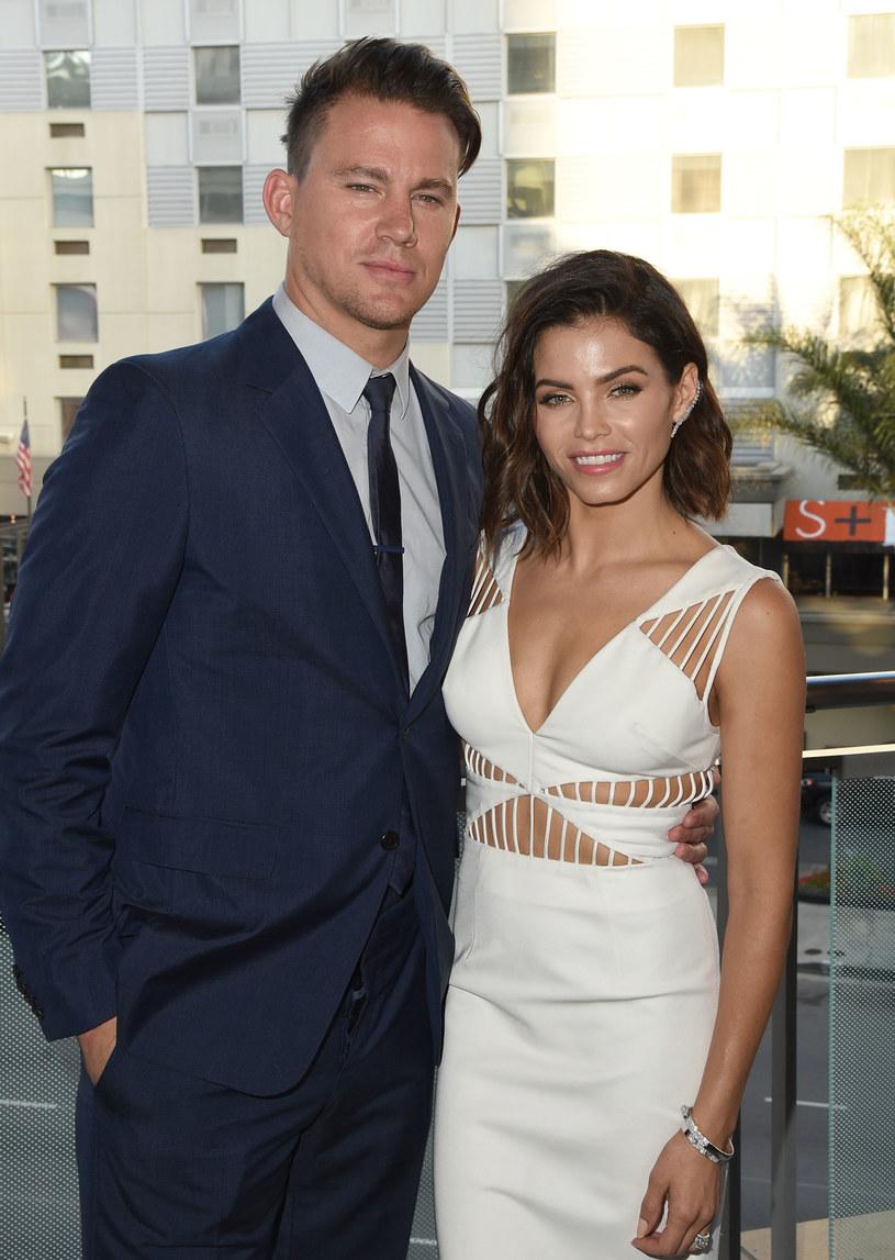 Channing Tatum z prawdziwą żoną Jenną Dewan-Tatum /Angela Weiss /Getty Images