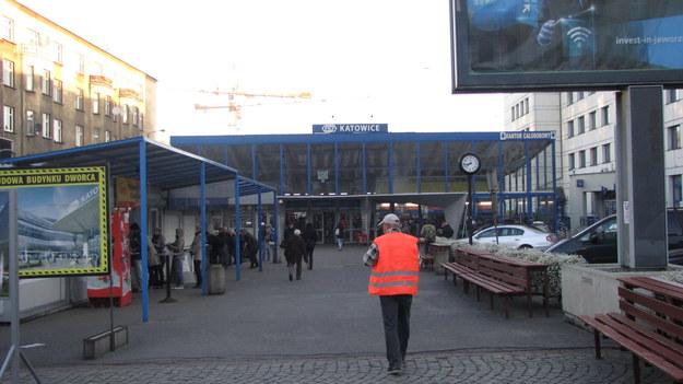 Chaos na dworcu w Katowicach /Anna Kropaczek /RMF FM