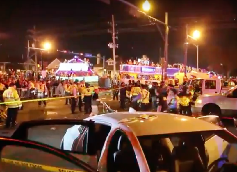 Chaos w Nowym Orleanie /Twitter