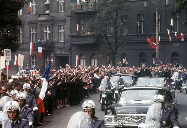 Charles de Gaulle podczas pobytu w Polsce /AFP