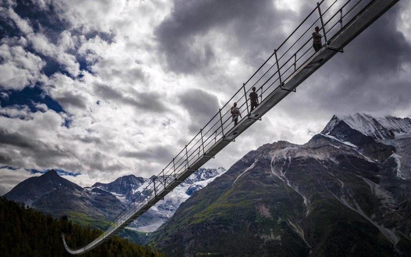 Charles Kuonen Hängebrücke - most został otwarty z końcem lipca /materiały prasowe