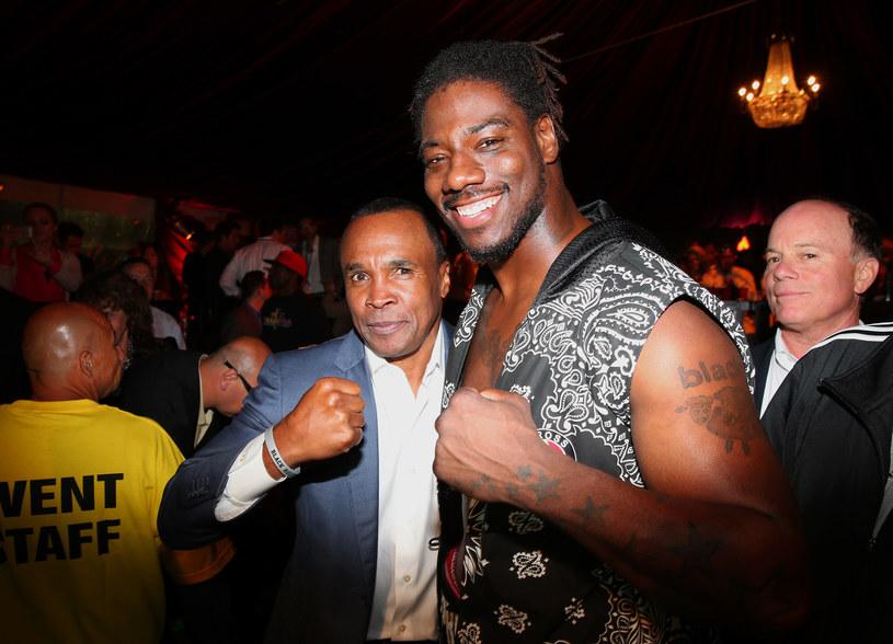 Charles Martin (z prawej) i legenda boksu - Sugar Ray Leonard /Getty Images